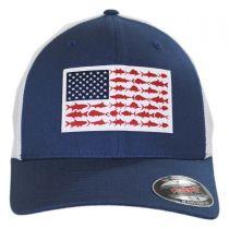 PFG Fish Flag Mesh FlexFit Fitted Baseball Cap in