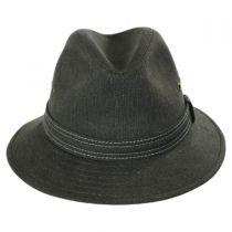 Cotton Canvas Safari Fedora Hat in