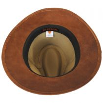 Goat Leather Safari Fedora Hat in