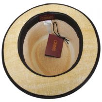 Pheasant Matte Toyo Straw Fedora Hat in