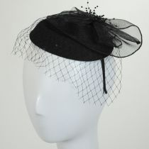 Netting Veil Felt Fascinator Headband in