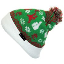 Thumbs Up Holiday Knit Beanie Hat alternate view 2