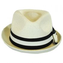 Joanne Toyo Straw Trilby Fedora Hat alternate view 6