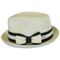 Joanne Toyo Straw Trilby Fedora Hat alternate view 7