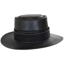Winger Toyo Straw Wide Brim Pork Pie Hat in