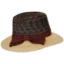 Calabria Raffia Straw Blend Fedora Hat in