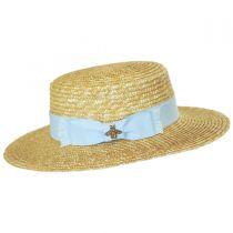 Hokkaido Wheat Straw Boater Hat in
