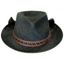 Venice Bao Straw Fedora Hat in