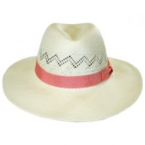 Bel Air Shantung Straw Fedora Hat alternate view 2