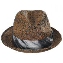 Greenwich Raffia Straw Fedora Hat in