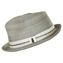 Ocean City Hemp Straw Fedora Hat in