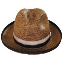 Coconut Grove Raffia Straw Fedora Hat in