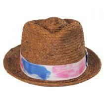Gulf Shores Raffia Straw Fedora Hat alternate view 2