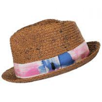 Gulf Shores Raffia Straw Fedora Hat alternate view 3