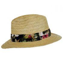Cozumel Raffia Straw Safari Fedora Hat in