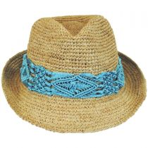 Malia Raffia Straw Fedora Hat alternate view 3