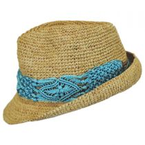 Malia Raffia Straw Fedora Hat alternate view 4