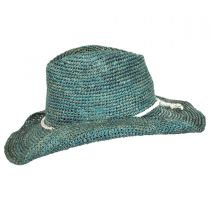 Sierra Raffia Straw Western Hat alternate view 7