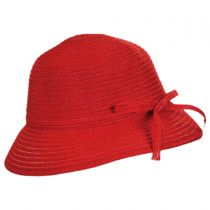 Mae Rollable Straw Cloche Hat in