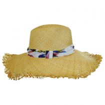 Lulu Raffia Straw Fedora Hat in