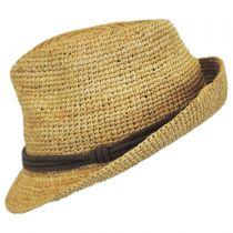 Marin Raffia Straw Fedora Hat alternate view 4