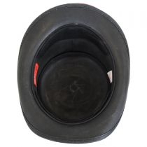 Red Eye Skull Leather Top Hat in