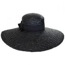 Wide Brim Straw Boater Hat in