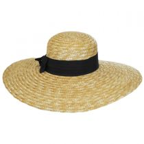 Wide Brim Straw Boater Hat in