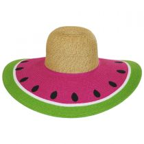 Watermelon Toyo Straw Sun Hat in