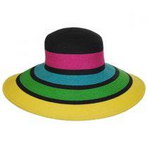 Neon Toyo Straw Sun Hat in