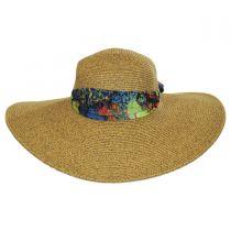 Scarf Trim Toyo Straw Sun Hat in