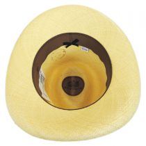 Double Down Panama Straw Fedora Hat in