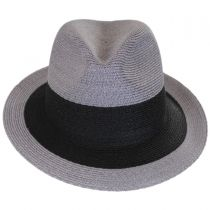 Black Stripe Hemp Straw Fedora Hat in
