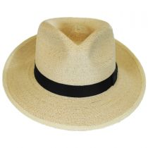 Rushmore Palm Leaf Straw Fedora Hat alternate view 2