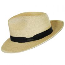 Rushmore Palm Leaf Straw Fedora Hat alternate view 3
