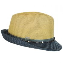 Star Band Toyo Straw Trilby Fedora Hat in