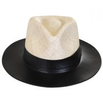 Larsen Leather and Sisal Straw Fedora Hat alternate view 2
