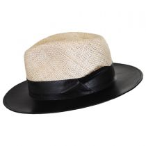 Larsen Leather and Sisal Straw Fedora Hat alternate view 3