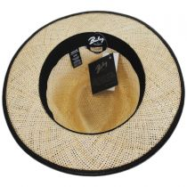 Larsen Leather and Sisal Straw Fedora Hat alternate view 12