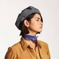 Leon Linen and Cotton Beret in