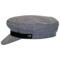 Kurt Herringbone Cotton Fiddler Cap alternate view 3