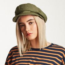 Unstructured Linen and Cotton Fiddler Cap in