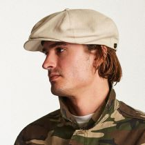 Ollie Linen and Cotton Newsboy Cap in