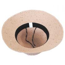 Sequin Toyo Straw Cloche Hat in