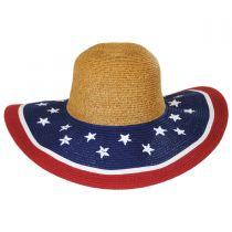 Stars and Stripes Toyo Straw Swinger Hat alternate view 2