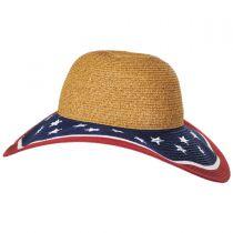Stars and Stripes Toyo Straw Swinger Hat alternate view 3