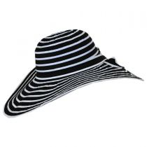 Black and White Ribbon Sun Hat in