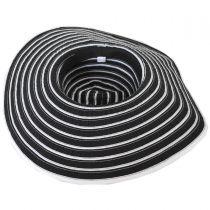 Black and White Ribbon Sun Hat alternate view 4