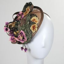 Floral Dish Fascinator Headband alternate view 2