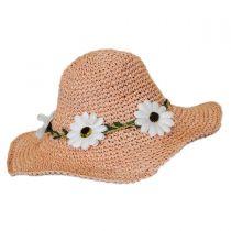 Kids' Daisy Crochet Toyo Straw Sun Hat alternate view 3